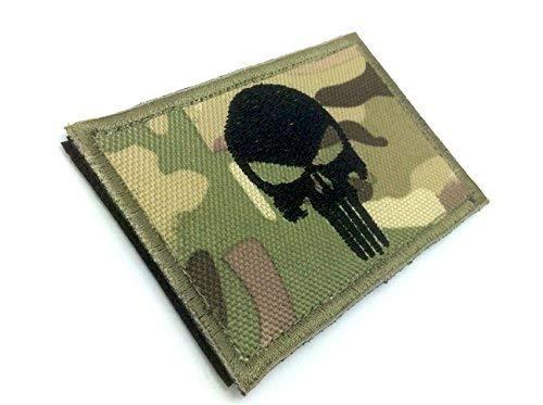 Punisher Multicam Camo Brod/é Airsoft Morale Patch
