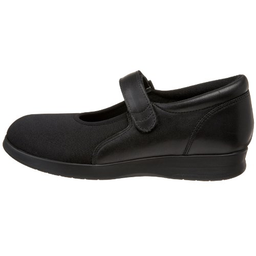 Image of the Drew Shoe Women's Bloom II, Black Leather/Stretch, 8 W (D)