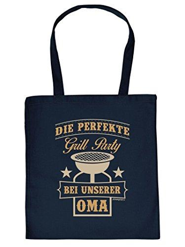 DIE PERFEKTE Grill Party.. :Tote Bag Henkeltasche Beutel mit Aufdruck. Tragetasche, Must-have, Stofftasche,Oma