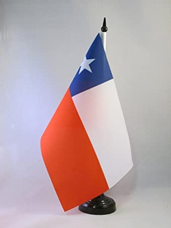 AZ FLAG Bandera de Mesa de Chile 21x14cm - BANDERINA de DESPACHO CHILENA 14 x 21 cm: Amazon.es: Hogar