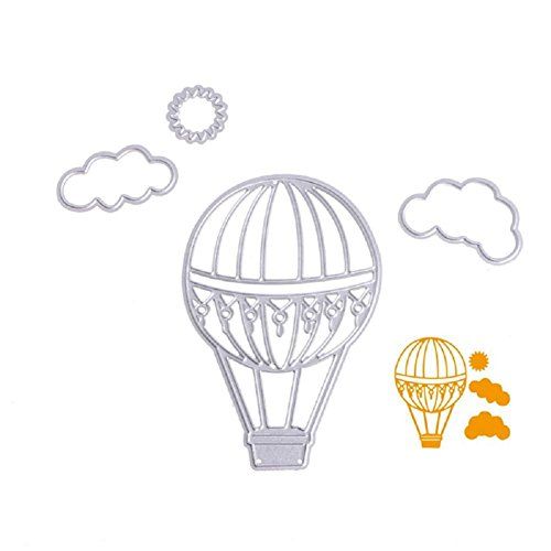 Bottone Hot Air Balloon Cutting Dies Stencils Scrapbooking Embossing Album Paper Card Craft DIY Gift