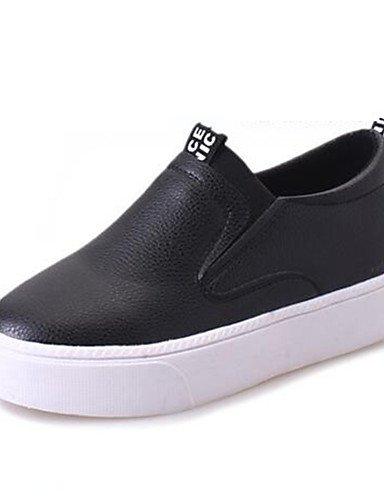 White us8 oficina Mujer tacones Y Zq 5 5 De negro Zapatos Uk6 Eu38 Eu39 Blanco White Casual Cn38 creepers 5 semicuero plataforma Cn40 Uk5 Trabajo 5 us7 wq6YRX6