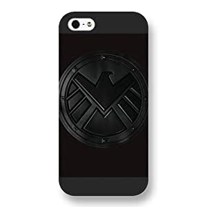 Onelee Customized Marvel Series Case for iPhone 5 5S, Marvel Comic Hero S.H.I.E.L.D. Logo iPhone 5 5S Case, Only Fit for Apple iPhone 5 5S (Black Frosted Case) WANGJING JINDA