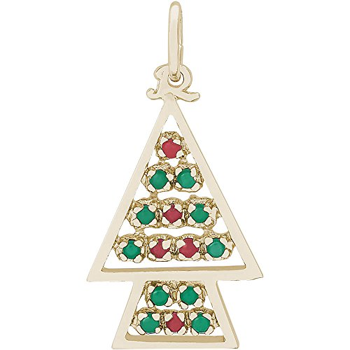 Christmas Tree Charm Gold Plated - 6