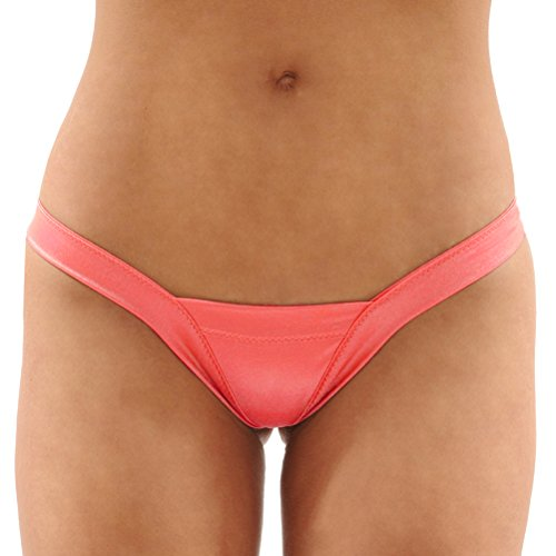 Summitfashions Dancers Delight Lycra Thong Pantie Sexy Panty 6 Color Options Color: Peach (Lycra Panty Thong)