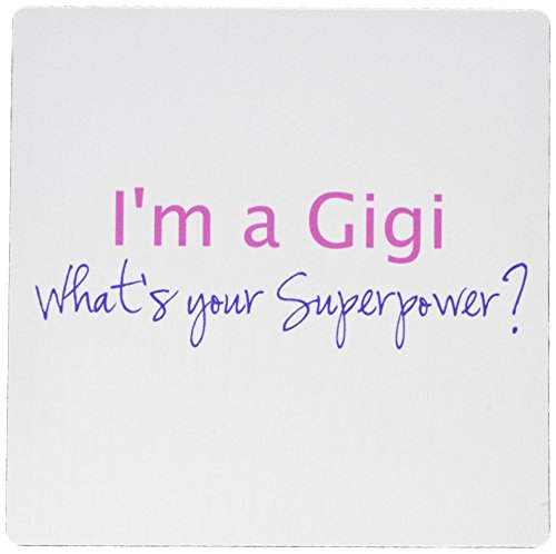 Super Hot Pad Mouse (3dRose Im a Gigi - Whats your Superpower - hot pink - Mouse Pad, 8 by 8 inches (mp_193732_1))