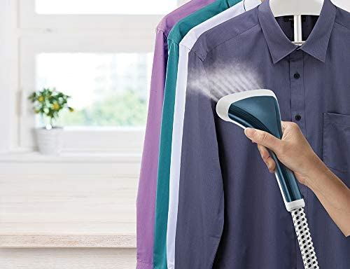 Morphy Richards 361050 Upright Garment Clothes Steamer Removes Odours, 1600 W, 2.5 liters, Blue and White