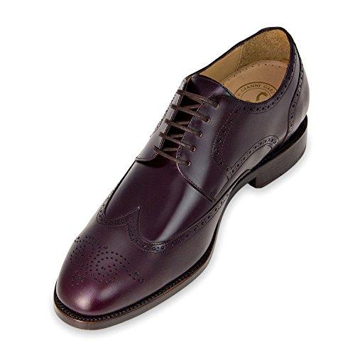 Masaltos Modèle La En Atlanta Fabriquées Jusqu'à Peau Bordeaux Avec Semelle Pour Augmentant Homme Réhaussantes 7cm Taille Chaussures rwUqfr