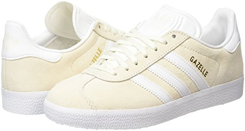 off Gazelle Adidas White Basses white Met Adulte Blanc Baskets Mixte gold wZUqYR