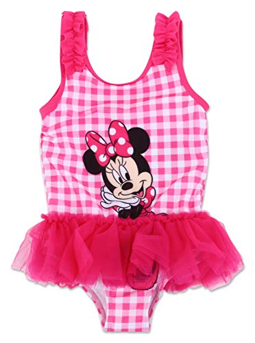 (Toddler Girl Minnie Mouse One Piece Swimsuit)
