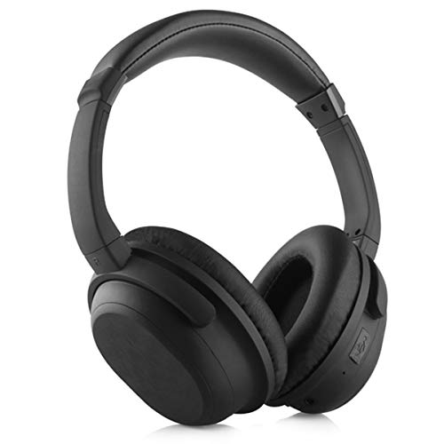Micoo Bluetooth Headphones Over Ear, Active Noise Cancelling Wireless eadphones Hi-Fi Stereo Wireless Headset, Foldable, Soft Memory-Protein Earmuffs