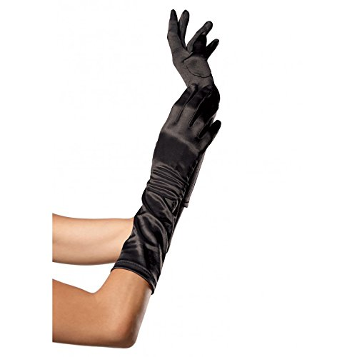 Elbow Length Satin Gloves Costume Accessory