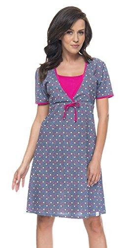 Maternita In Comoda Notte TCB Di Da Alla Moda Grigio nightwear 4044 Rosa Colori Camicia dn zWtxw8qfY