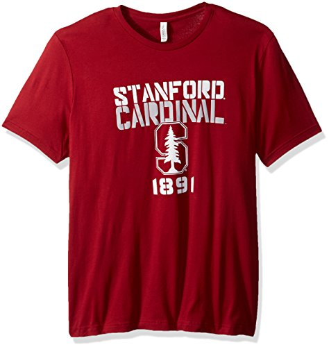 NCAA Stanford Est Stack Jersey Short Sleeve T-Shirt, Cardinal,Medium