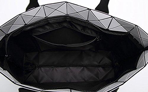 Main Géométriques Bag Variety Big Femmes Lightning Diamond HAOXIAOZI à Sac à Matte Sacs Silver Sac Bandoulière fx6vI