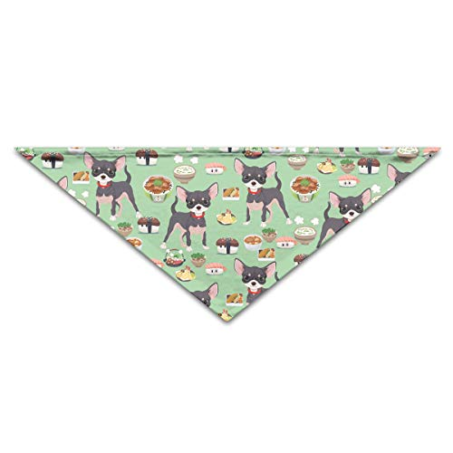OLOSARO Dog Bandana Pug Dog Sushi Triangle Bibs Scarf Accessories for Dogs Cats Pets Animals ()