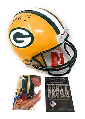 Brett Favre Green Bay Packers Signed Autograph Full Size Proline Authentic Helmet B Favre ()