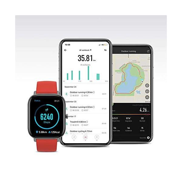 Amazfit GTS Montre Connectée Homme avec GPS Tracker d'activité Etanche 5 ATM, Podomètre,Moniteur de fréquence cardiaque…