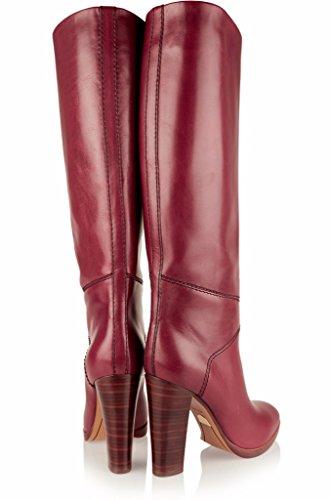 Mode Européenne Automne Et Hiver Bottes De Genou Bottes Femmes Gaotong Confortable Épais Avec Bottes