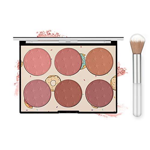 Ownest 6 Colors Face Blush Palette,Light Luxury Blush Palette Matte Blush Powder Bright Shimmer Face Blush,Contour and…