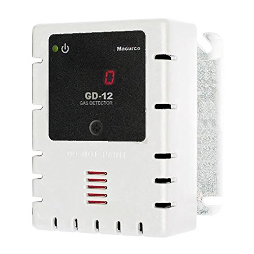 Macurco GD-12 White Combustible (Line Voltage) Fixed Gas Detector Controller Transducer with White Housing