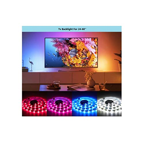USB TV Backlight Led Strip Lights Kit,Tenmiro 6.56ft USB Bias Lighting with Remote,16 Color Changing 5050 for HDTV,Wall Mount TV,Mirror,PC,Home Theater,Bias Lighting