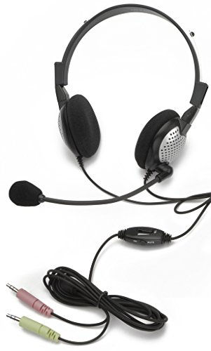 Andrea Communications NC-185 VM High Fidelity Stereo PC Computer Headset with Noise Canceling Microphone and Volume/Mute Controls