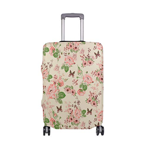 Butterfly Picking Nectar From Roses Traveler Lightweight Rotating Luggage Protector Case Can Carry With You Can Expand Travel Bag Trolley Rolling Luggage Protector Case