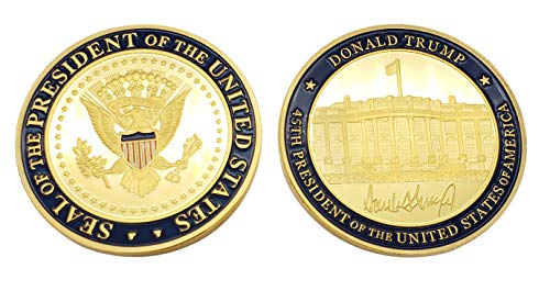 (MAGA Presidential Coin Donald Trump 45th President of The United States of America Commemorative Challenge Coin hat Gold)