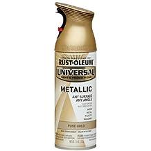 Rust-Oleum 245221 Universal All Surface Spray Paint, 11 oz, Metallic Pure Gold