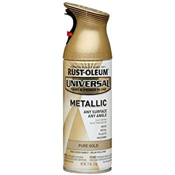 Rust-Oleum 245221 Universal All Surface Spray Paint, 11 oz, Metallic Pure Gold