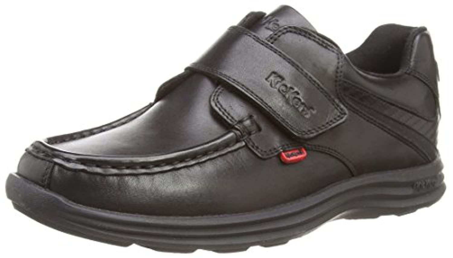 Kickers Boy's Reasan Strap Loafers - Black, 3 UK Child