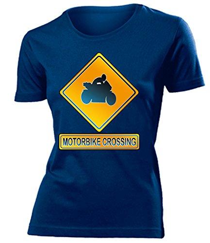 MOTORBIKE CROSSING mujer camiseta Tamaño S to XXL varios colores marina / Blanco
