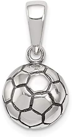 Sterling Silver 925 Soccer Ball Pendant 38 mm Jewels Obsession Soccer Ball Pendant
