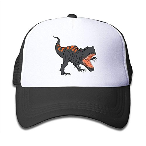 NVJUI JUFOPL The Fierce Dinosaur Children's Sun Protection,Casual,Summer Baseball Adjustable Mesh Hats Caps Black