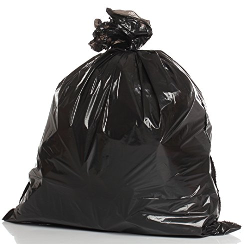 ually Folded 55 Gallon Heavy Duty Trash Bags - 50 per case (Lawn Leaf Bags)