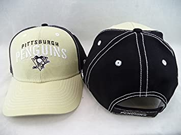 5db278aa1dd Image Unavailable. Image not available for. Color  Pittsburgh Penguins  Reebok NHL Pty Blk Structured Adjustable Hat Cap OSFA