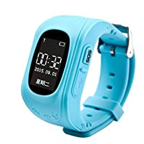 2016 Smart Phone GPS Watch Children Kid Wristwatch Q50 GSM GPS Locator Tracker Anti-Lost Smartwatch Child Guard For iOS Android (Blue)