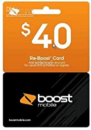 Boost Mobile $40 Reboost Refill Card