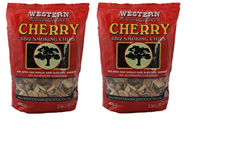 Western Cherry BBQ Smoking Chips Two Bags Bundle by Western
