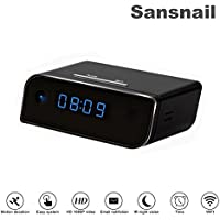 Sansnail Wi-Fi mini Camera Clock Upgraded Wireless mini Camera Full HD 1080P Motion Detection Activated Alarm App Real-time Video Remotely Monitoring for Home Security Nanny Cam