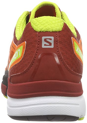 Salomon X-Scream 3D - Zapatillas de running Hombre Rojo (Tomato Red / Flea / Gecko Green)