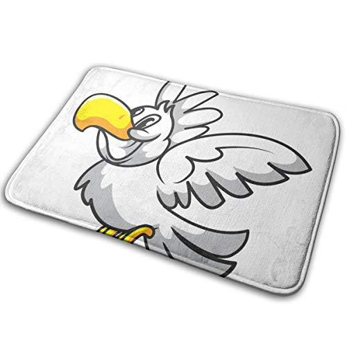 YETSH Doormat White Parrot Non Slip Water Absorption 31.4 x 19.6 Inch Floor Mats for Home/Kitchen/Doorway/Bathroom ()