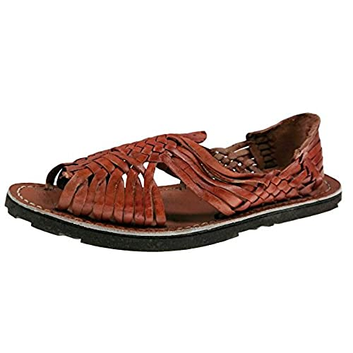 7235bec05743 durable service Genuine Leather Chedron Women Huarache Pachuco. Mexican  Sandals