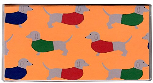 (Dachshund Checkbook Cover with Register & Photo Insert to Hold Debit Credit Cards)