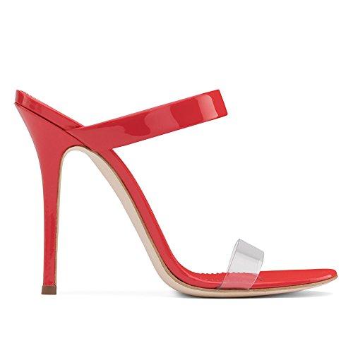PVC Grande Mules 4001 Plateforme Sexy Taille Chaussures De Talon Mariage Red Haut De Club KJJDE Sandales 37 Fête Transgenre De Femme TLJ Soirée 6wxZzP