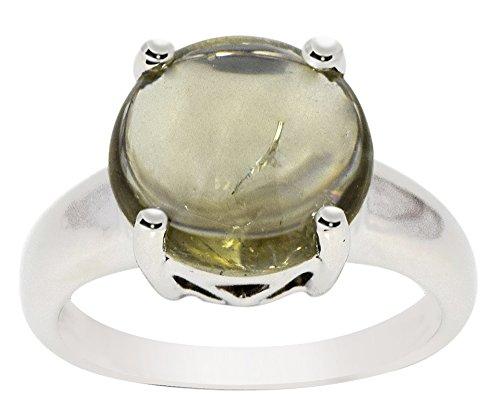 Banithani anneau de pierre tourmaline verte 925 femmes pur argent bijoux en bande de doigt de la mode