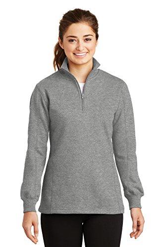 Ladies 1/4 Zip Sweatshirt - 8