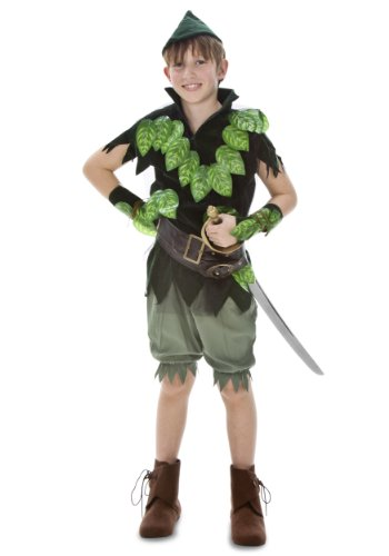 Child Deluxe Peter Pan Costumes (Big Boys' Deluxe Peter Pan Costume)