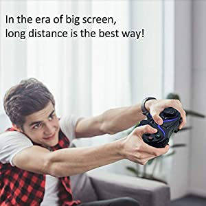 Wireless PC Controller, Built-in 500mah Battery, USB Connection, Remote Control Game Board for Sony Playstation 3, PC/Laptop Computer (Windows XP / 7/8 / 10) & Android & steam (Black) (Color: BLACK)